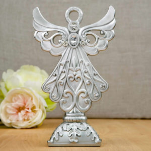 Stunning Silver Angel Statue