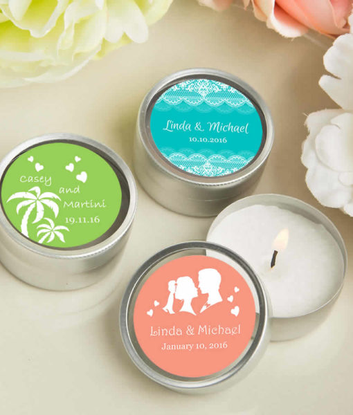 personalized travel candles