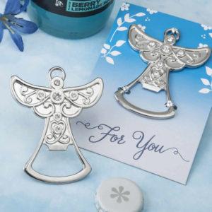 Guardian Angel Design Silver Metal Bottle Opener