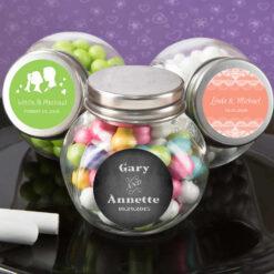 Glass Candy Jar Wedding Favors