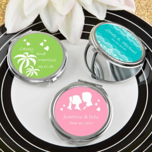 compact mirror favors