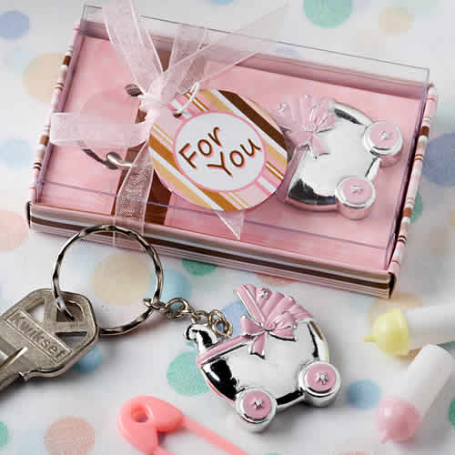 baby carriage keychain