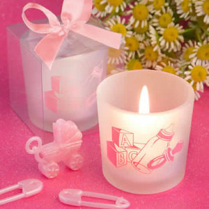 Baby girl candle favors
