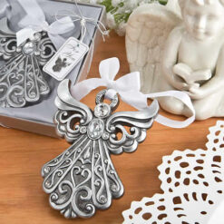 Silver Angel Ornament With Antique Finish