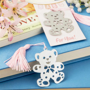 Pink Teddy Bear Design Bookmark Favors