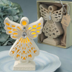 Glowing Ivory Color Angel Statue With Led Light