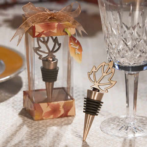 leaf bottle stopper, fall leaf wine stoppers