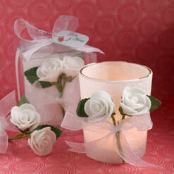 rose candle favors
