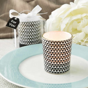 Candle Wedding Favors Under $1 Silver Glass Candle
