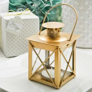 Gold Metal Lanterns Wedding Matte Gold Finish