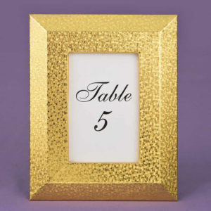 Gold Table Number Holders 4 x 6 Frame with Wide Border