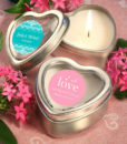 heart shaped candles wedding favor