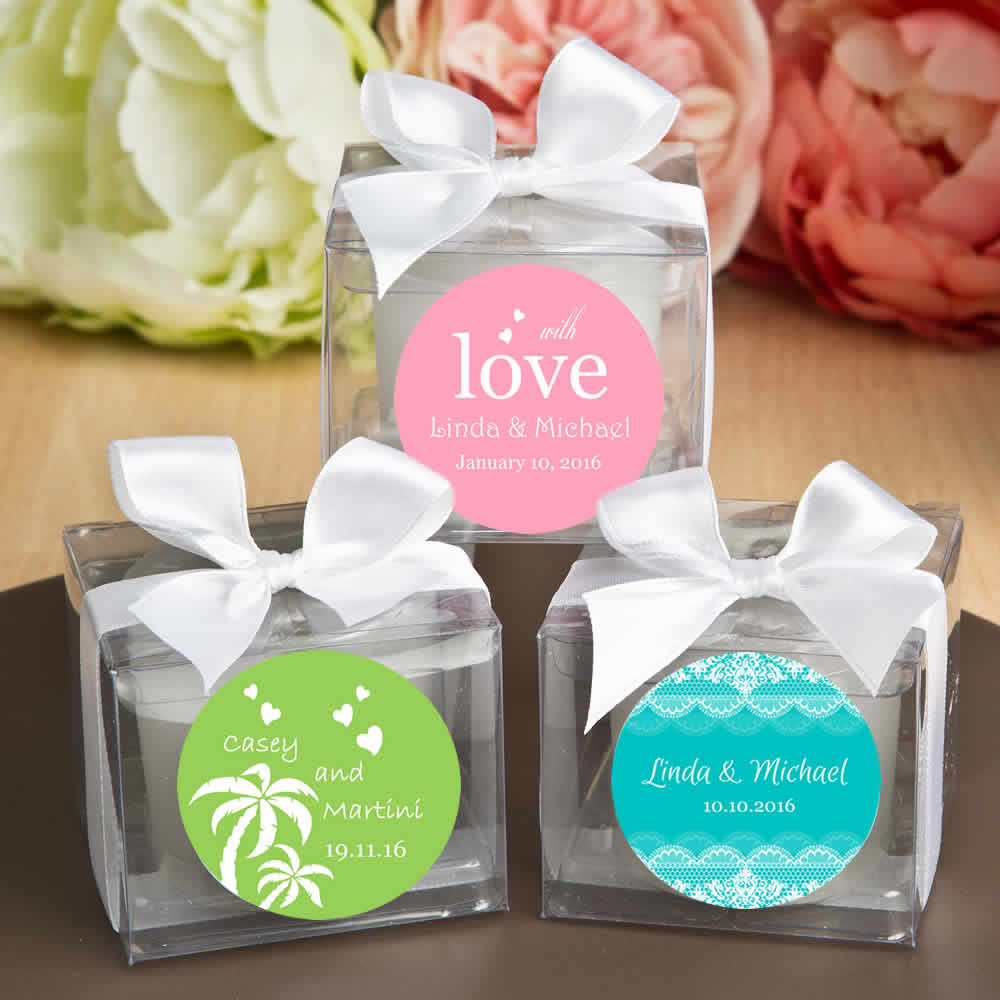 Personalized Wedding Candles Lowest Price Free Assembly