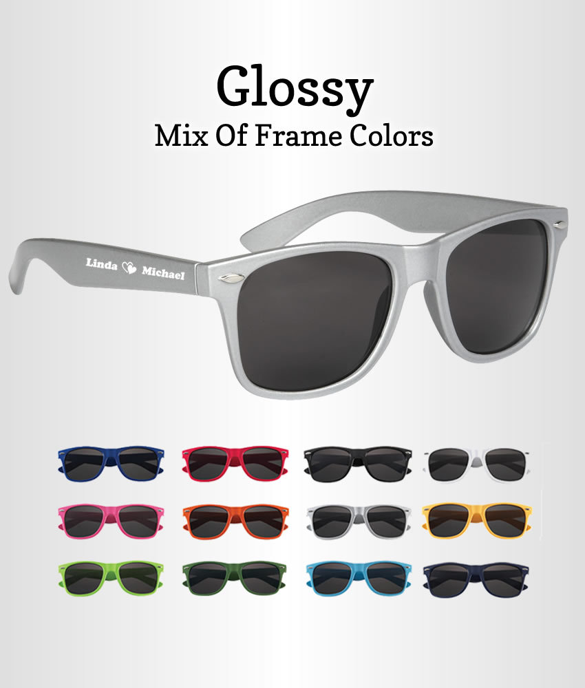 50078886b0a wedding sunglasses for guests · Personalized Wedding Sunglasses Glossy