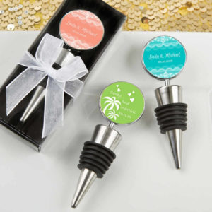 Personalized Wine Bottle Stopper Silver