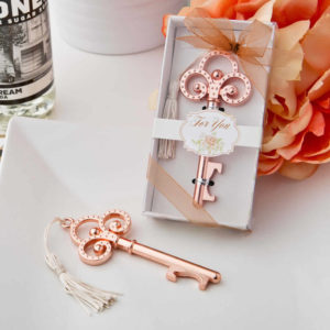 Rose Gold Wedding Favors Skeleton Key Bottle Openers
