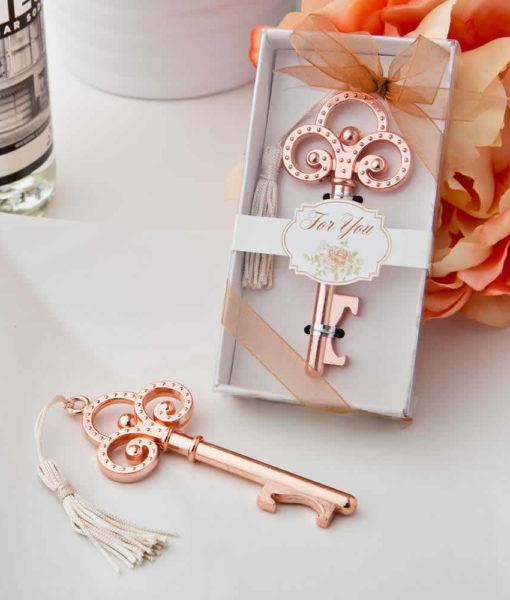 Rose Gold Wedding Favors Skeleton Key Bottle Openers