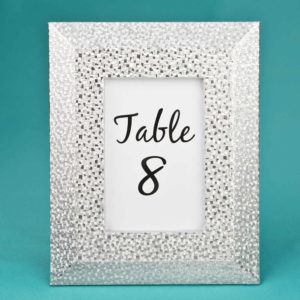 Silver Table Number Holders 4 x 6 Frame with Wide Border