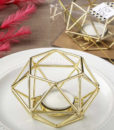 gold geometric candle holder