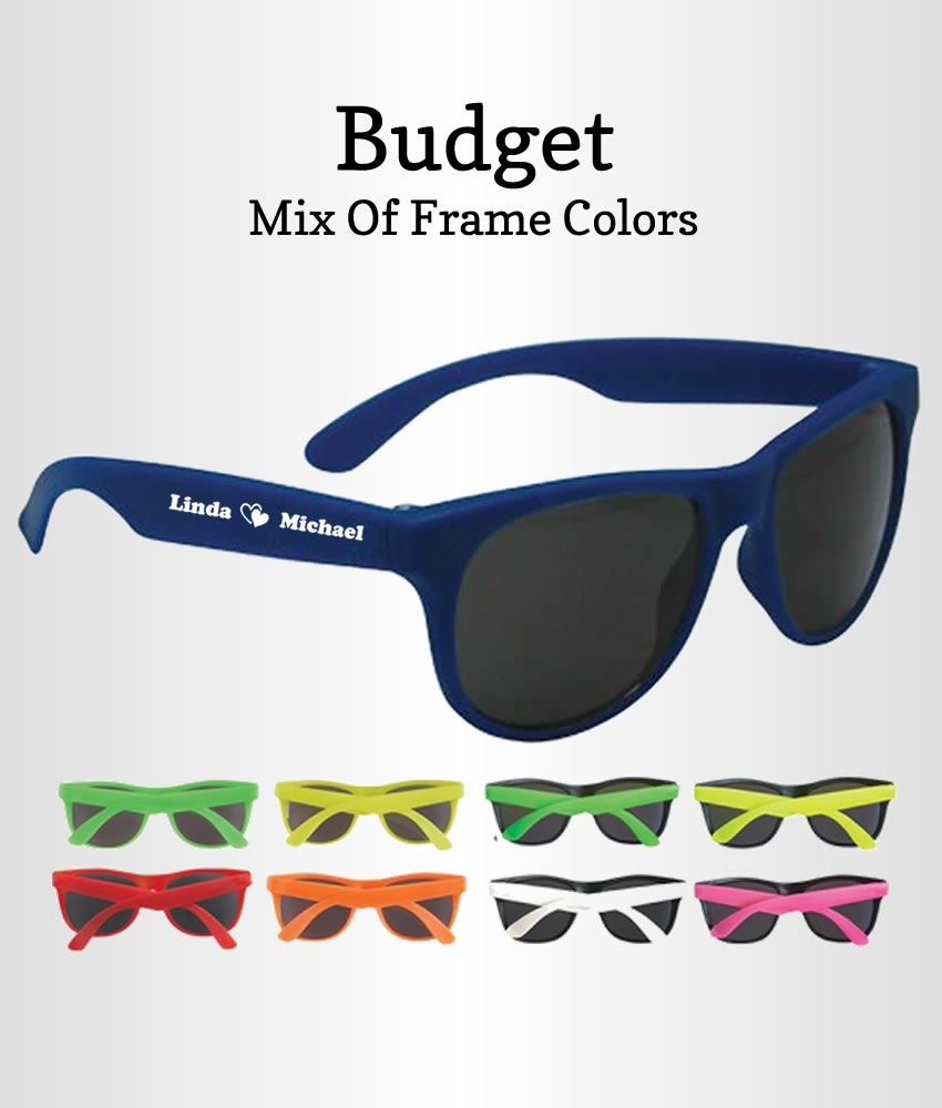 Wedding Favor Sunglasses Budget - FREE Proofs & No Setup Fees