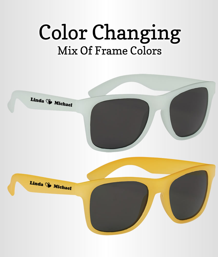 Sunglasses Wedding Favors Customized Color Changing - FREE Proofs ...