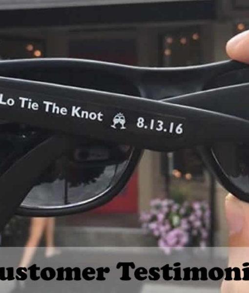Black Custom Sunglasses No Minimum