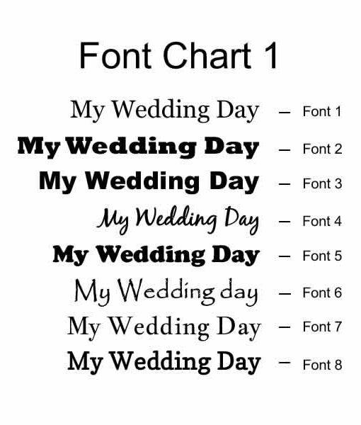 font chart 1