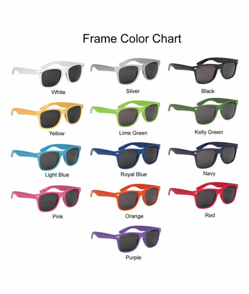 Personalized Wedding Sunglasses Glossy