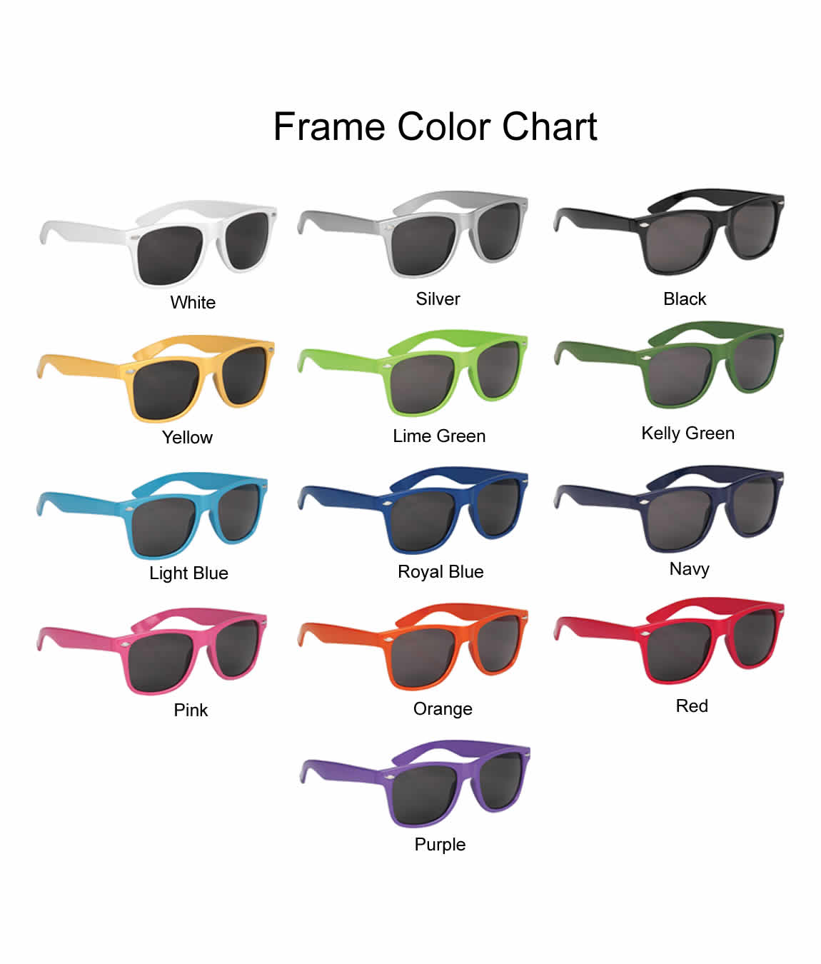 Wedding Sunglasses For Guests Glossy - FREE Proofs & No Setup Fees
