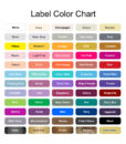 label color options