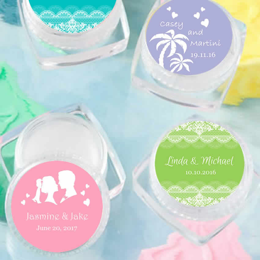 Personalized Lip Balm Wedding Favors Free Assembly