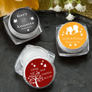 personalized lip balm wedding favors