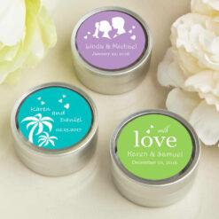 personalized wedding mint tins