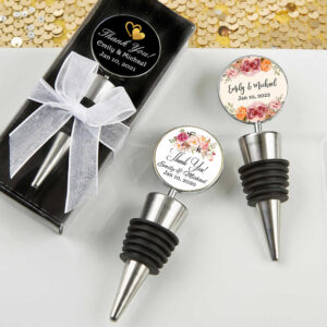 personalized wine stopper wedding favors