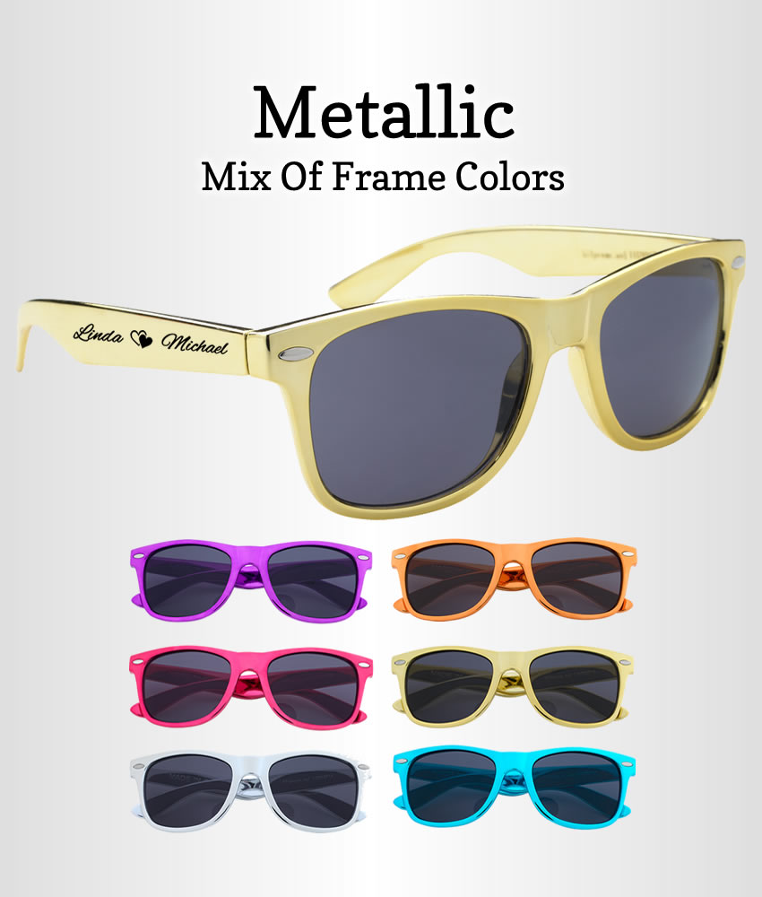 2038c9c22372 Sunglasses Party Favors Metallic Gold   Silver - FREE Proofs   No ...