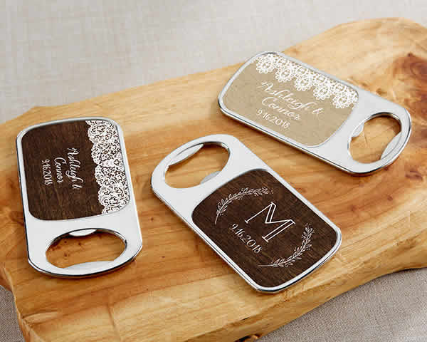 Customize Bottle Opener, Solid Metal With Your Print - FREE Assembly