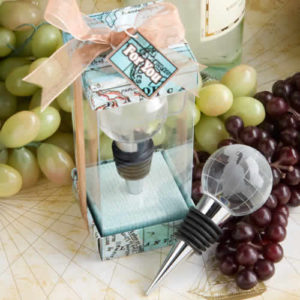 Glass Globe Design Wine Bottle Stopper