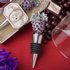 Vineyard Wine Bottle Stopper Favors
