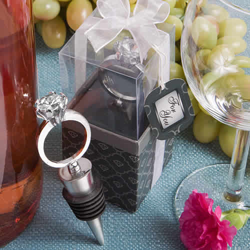 diamond ring bottle stopper