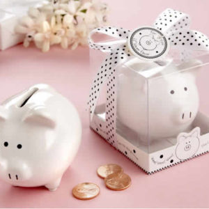 baby shower piggy bank favors