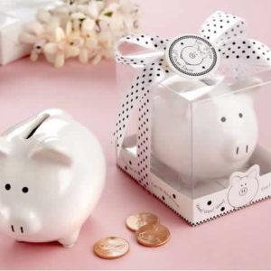 baby shower piggy bank favors