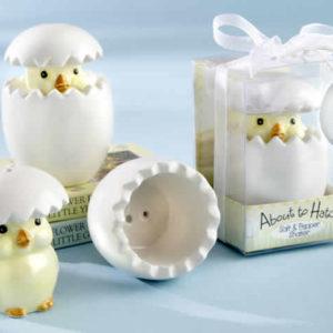 Ceramic Baby Chick Salt & Pepper Shakers
