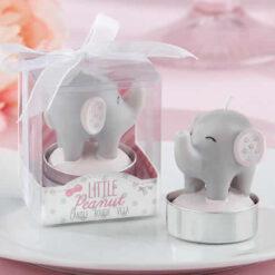 Pink Elephant-Shaped Candle