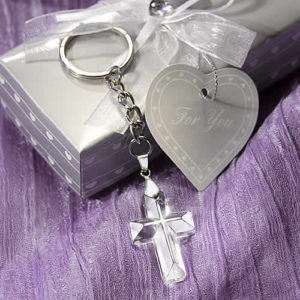 Crystal Cross Key Chains