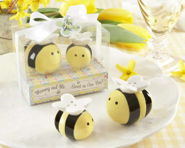 Bee Salt And Pepper Shakers Baby Shower Favors Free Rush With