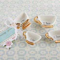 Ceramic Teacup Measuring Spoons