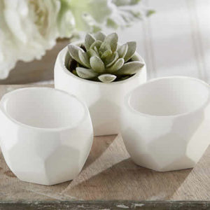 Geometric White Planter (Set Of 4)