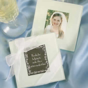 photo coaster favors