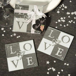 love coasters wedding favors