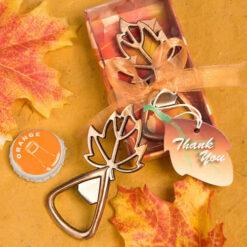 fall leaf bottle opener